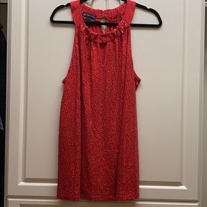 INC Red Sequined Top